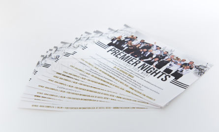 Promote your business or event with high-quality, full-colour custom flyers